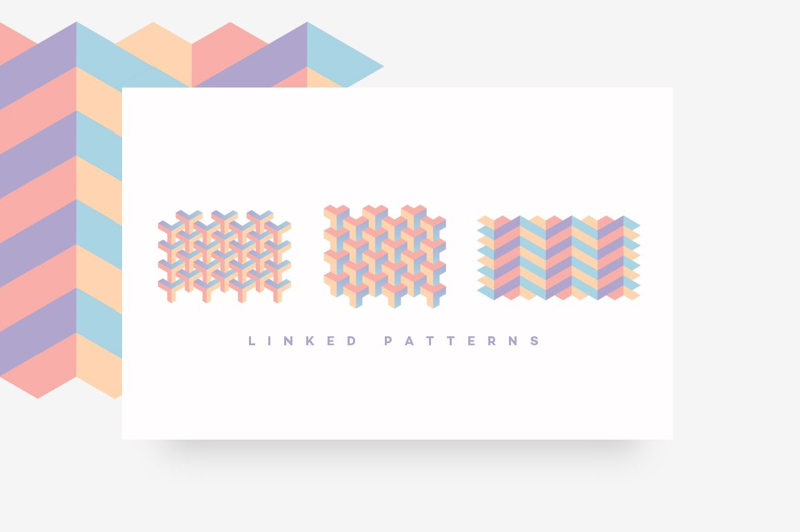 Geometric Patterns Toolkit-Linked patterns