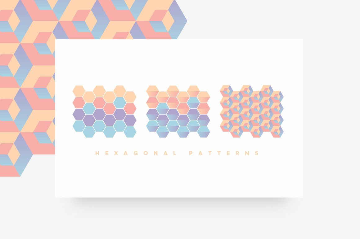 Geometric Patterns Toolkit-HEXAGONAL PATTERNS