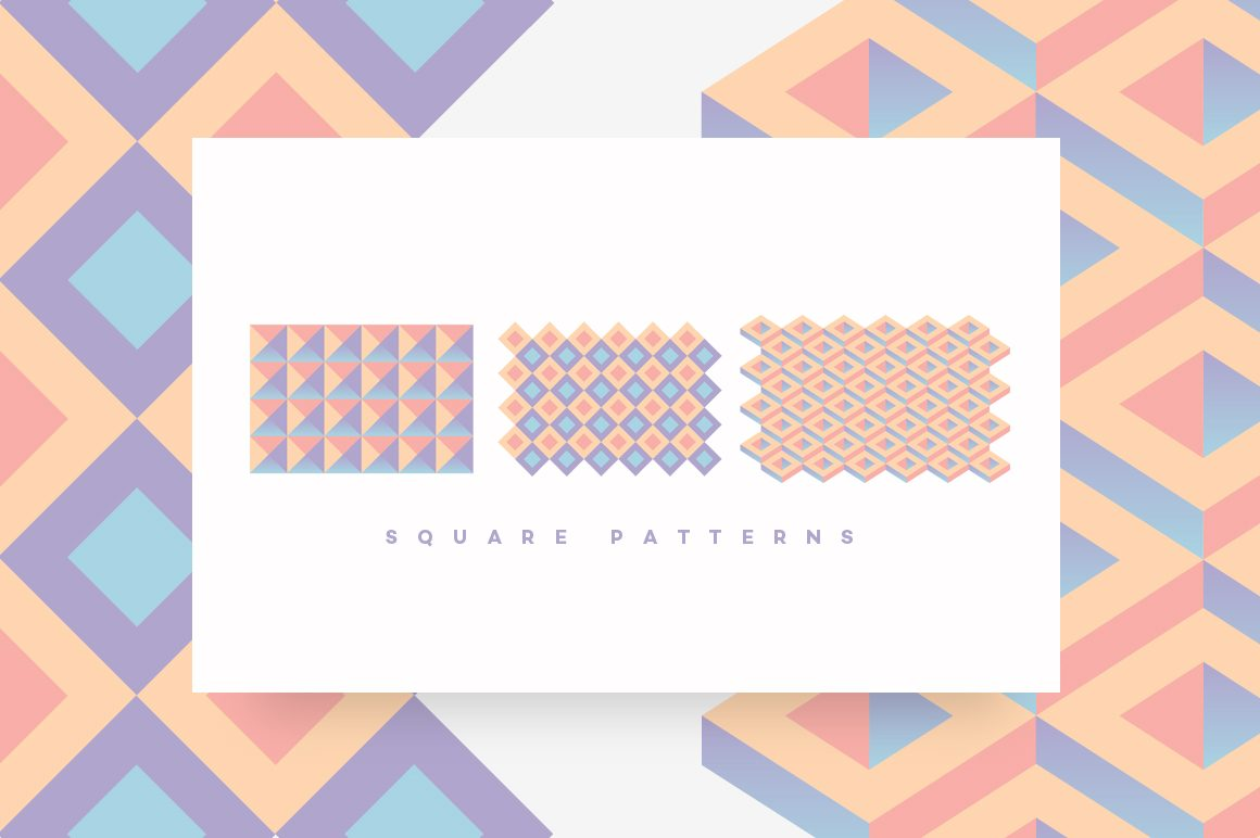 Geometric Patterns Toolkit-Square patterns