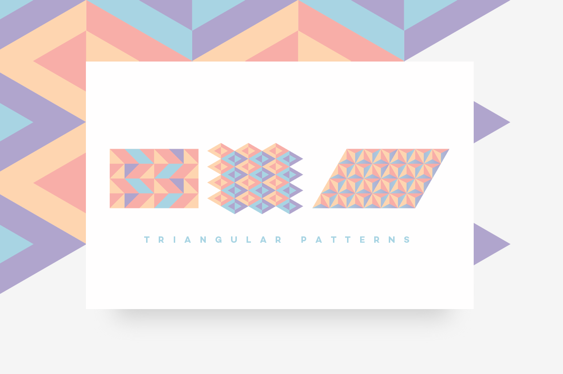 Geometric Patterns Toolkit-Triangular