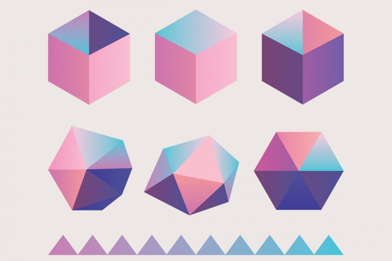50 Holographic shapes