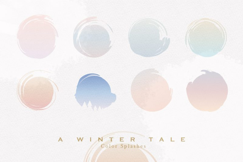 A Winter Tale Collection-watercolor splashes