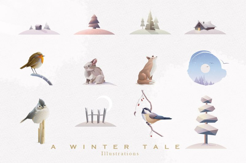 A Winter Tale Collection-illustrations