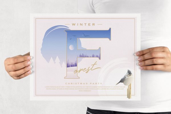 A Winter Tale Collection- diy Christmas party invitation