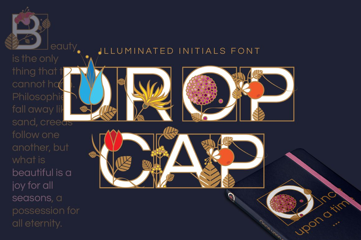 Drop Cap Illuminated Initial Letters