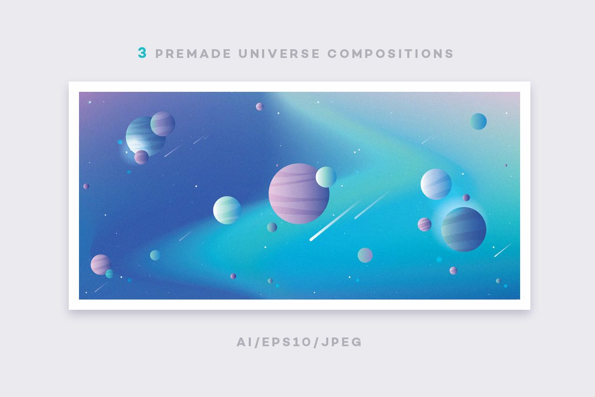 Colorful-Space-Typography