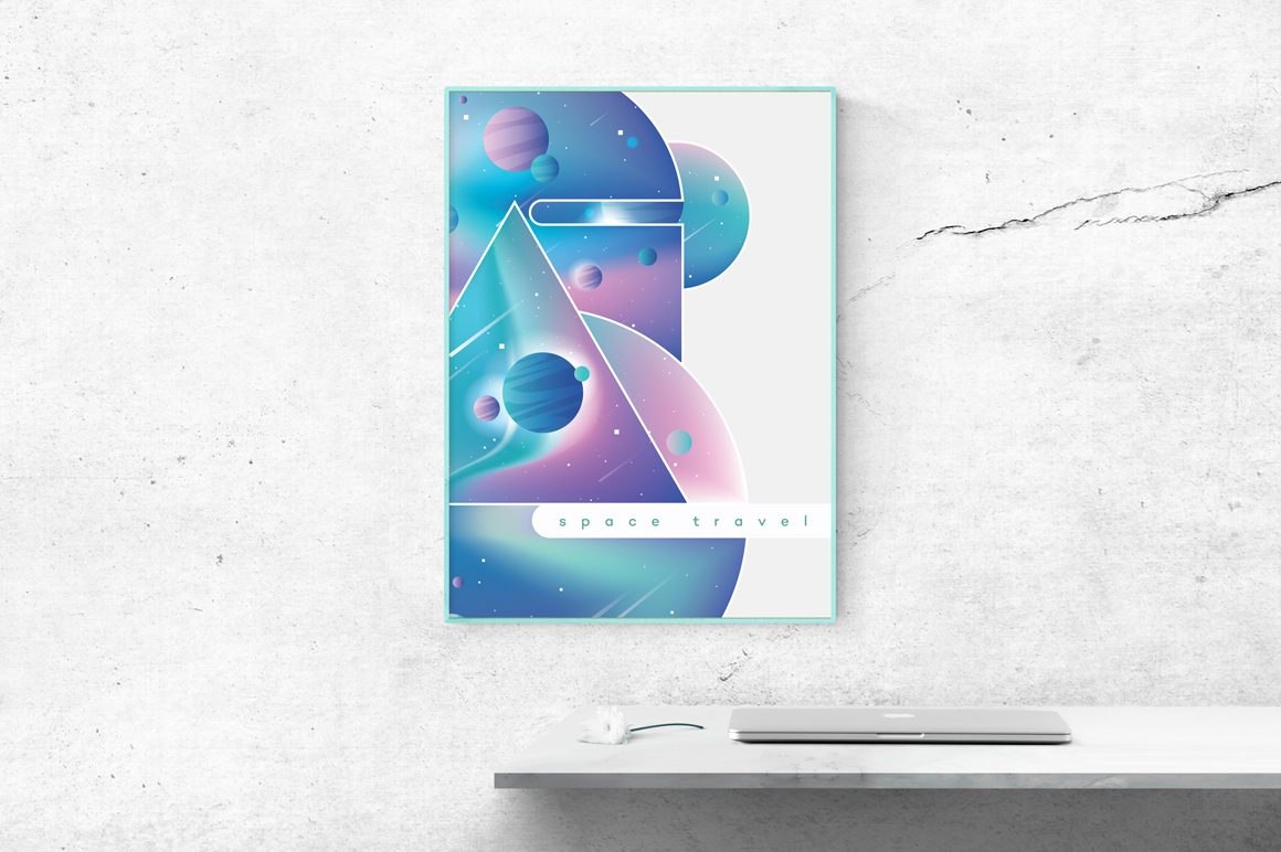 Colorful Space Typography