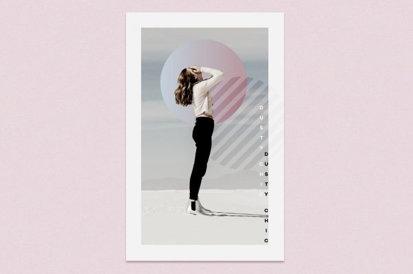 how to apply dusty chic design toolkit on a poster
