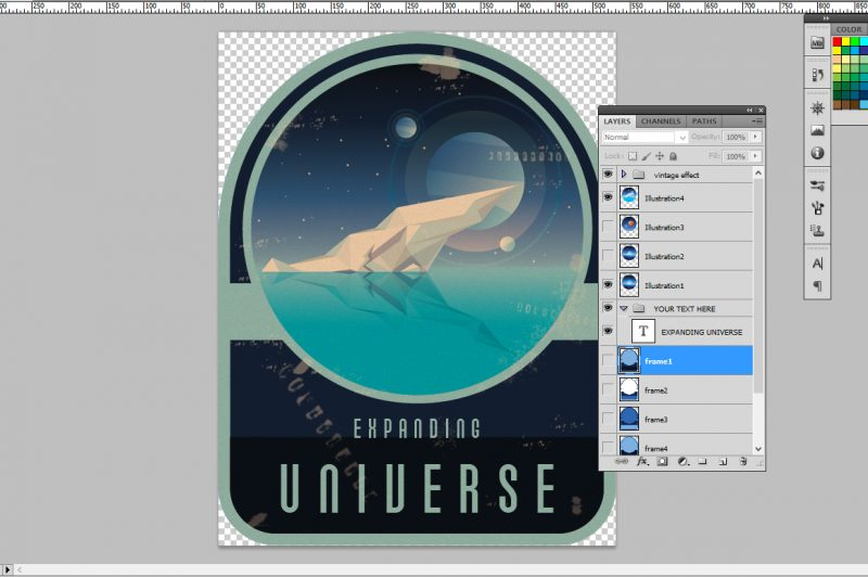 Space logo badges creator