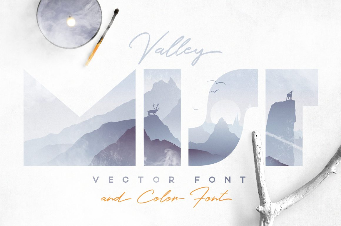 Valley Mist Vector Font