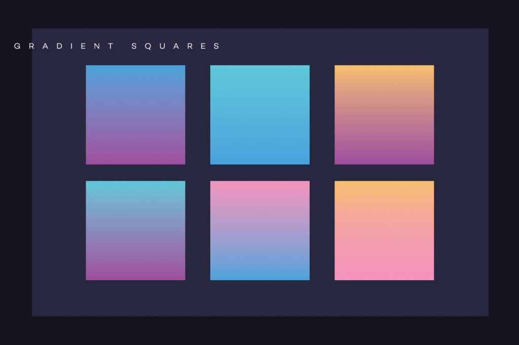 Top 5 Gradient Trends and How to Use them Effectively- DUOTONE gradients  (GENX Gradient Compositions Toolkit-Polar Vectors) 433dfc0cb08f