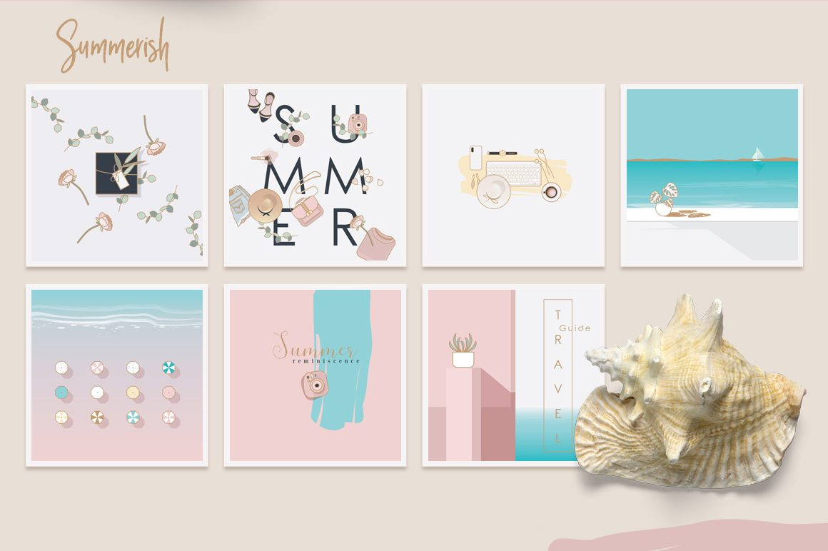 Summerish Illustrated Instagram Pack