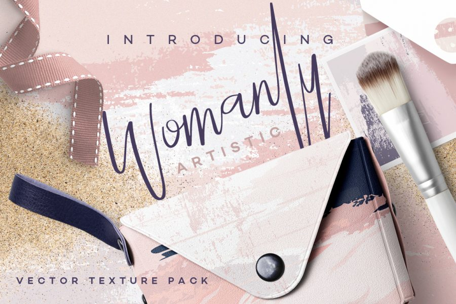 Womanly Artistic Vector Textures
