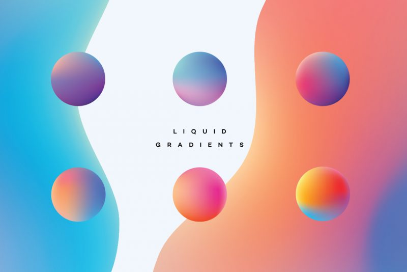 Liquid Gradients Collection - spheres
