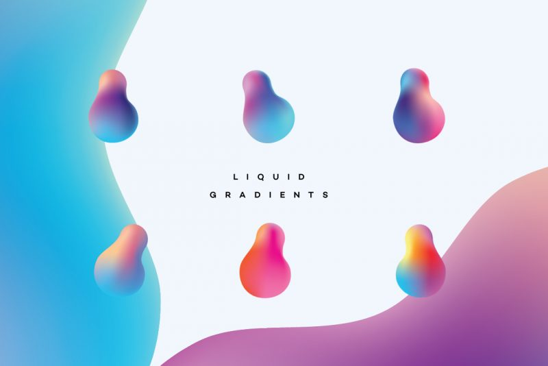 Liquid Gradients Collection - fluid shapes