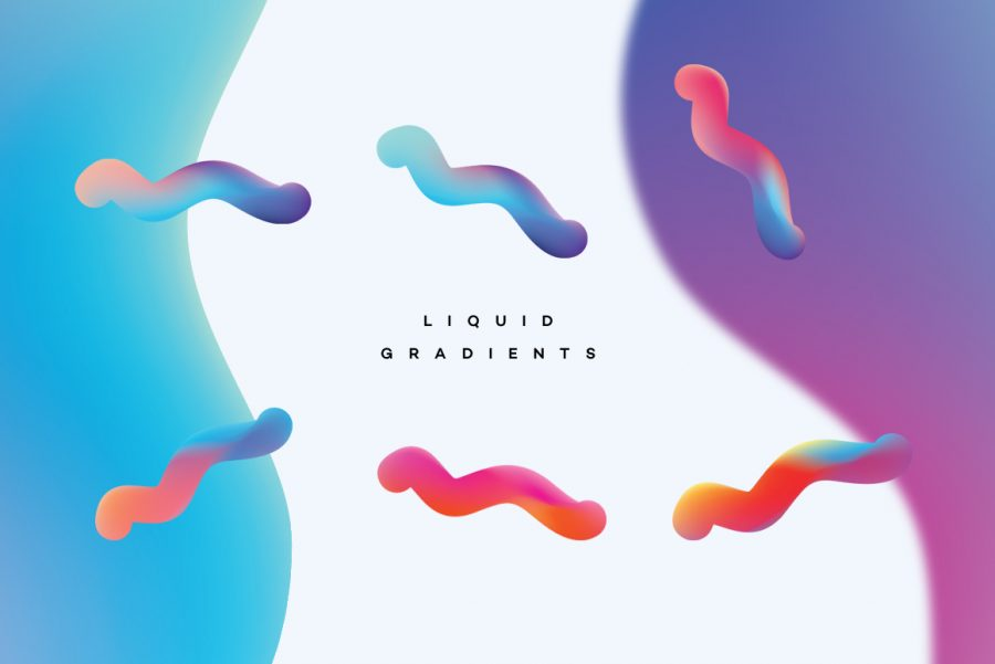 Liquid Gradients Collection - abstract stripes