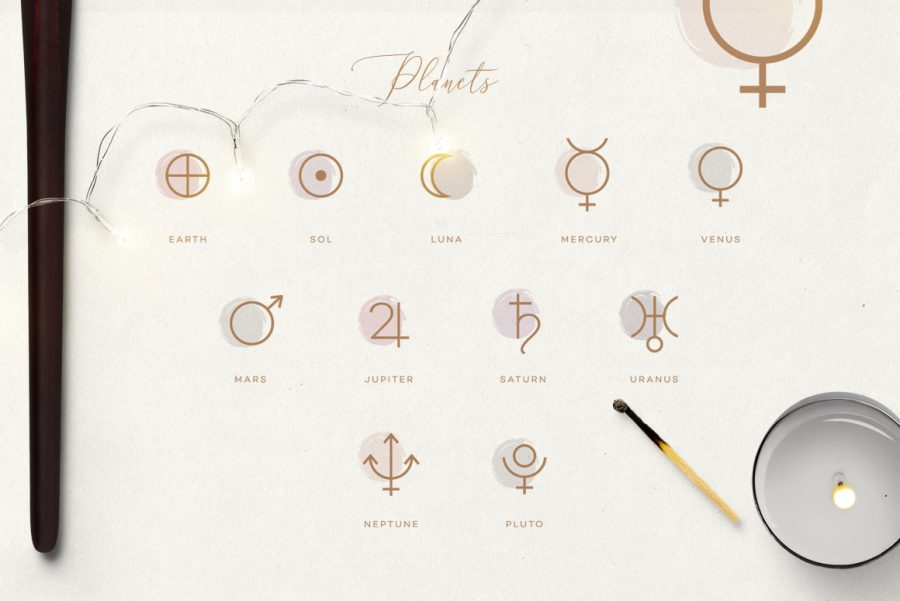 The Ultimate Astrology Icon Pack- planets glyphs