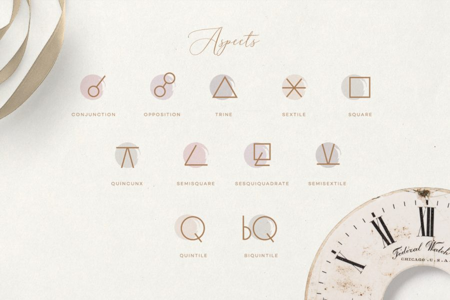 The Ultimate Astrology Icon Pack- aspects glyphs