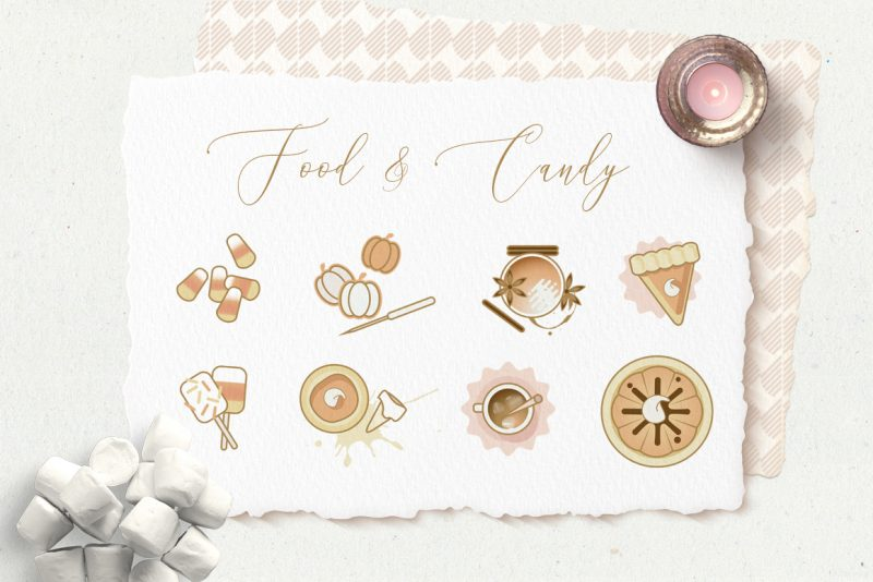 Charming Fall Icons-candy