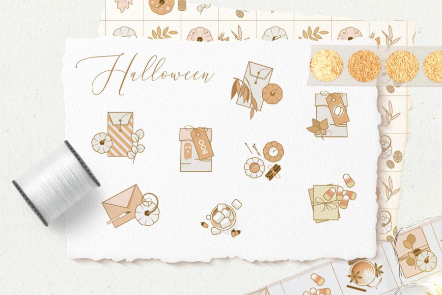 Charming Fall Icons-halloween