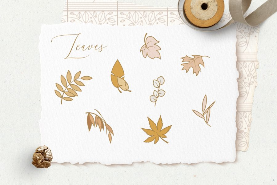 Charming Fall Icons-leaves