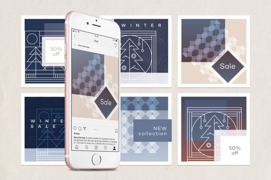 Fall Winter Branding Collection-Instagram templates