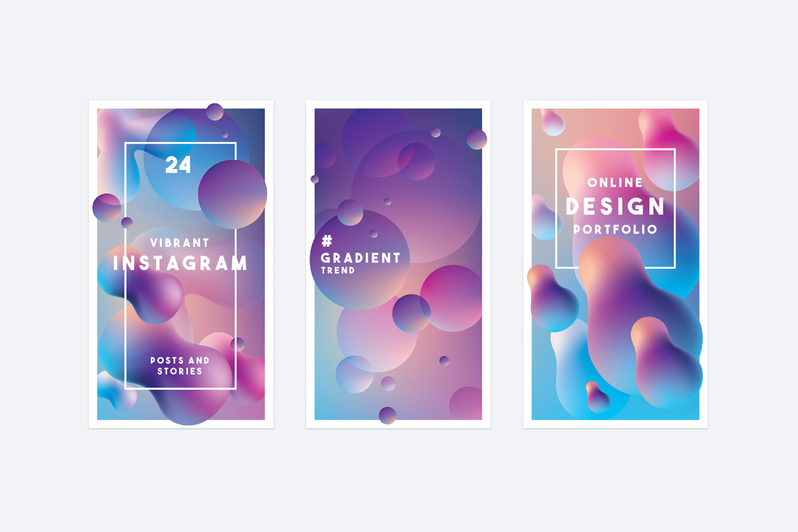 Vibrant Instagram posts and stories-stories