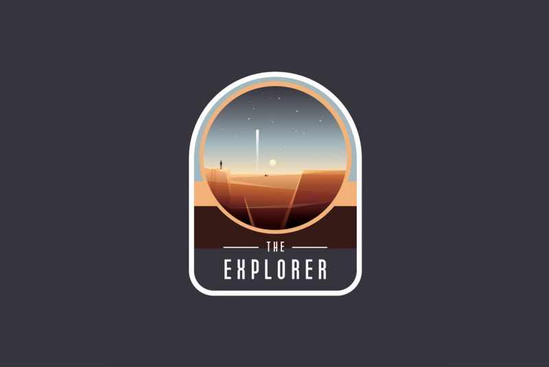 Space Logo Badges Crator Freebie -The explorer badge