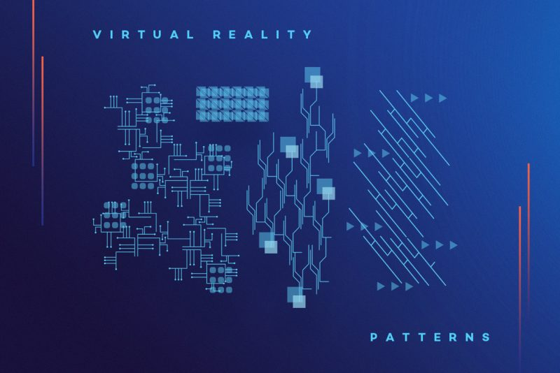 VR Icons and Typography-patterns