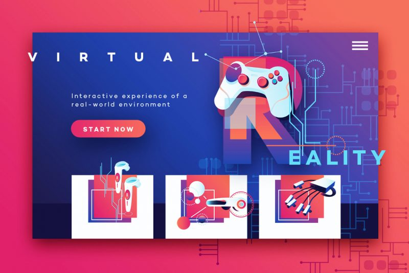VR Icons and Typography-UI