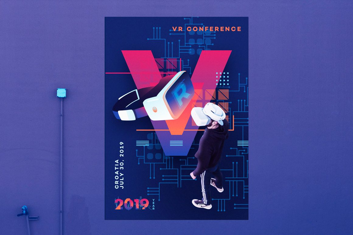 VR Icons and Typography-POSTER