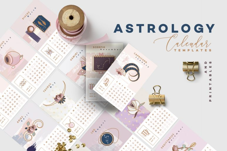 Astrology-Calendar-Templates
