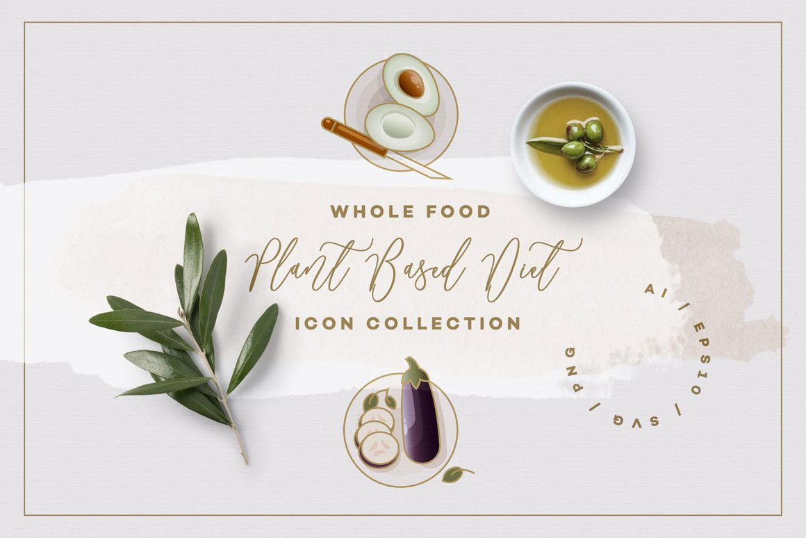 Whole-Food-Plant-Based-Diet-Icon-Collection