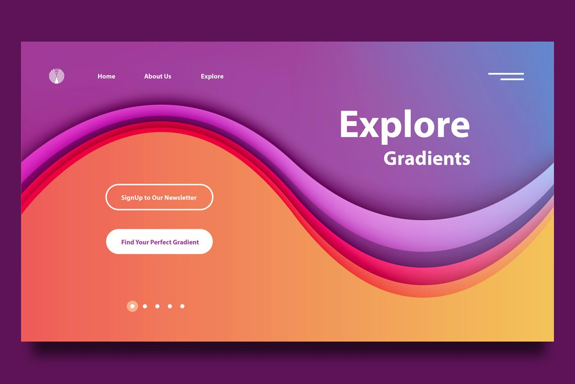 Landing Page Gradients Freebie