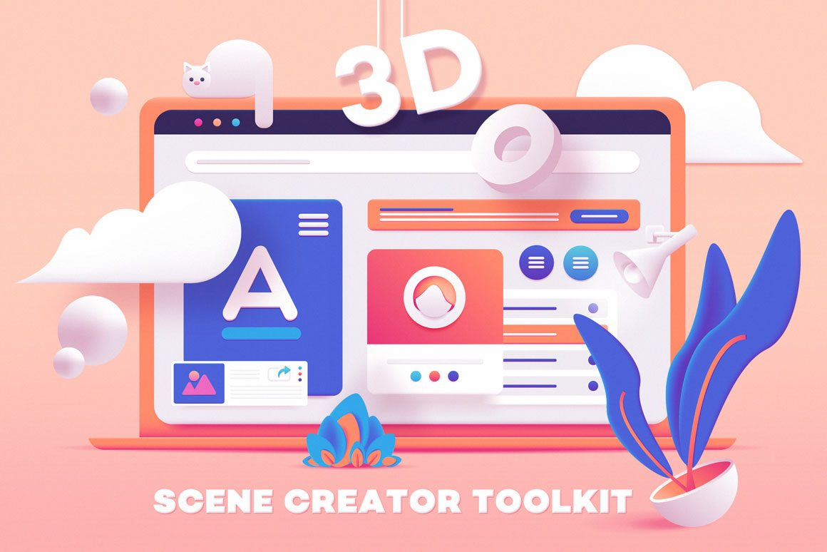3D Toolkit-UI Elements Scene Creator