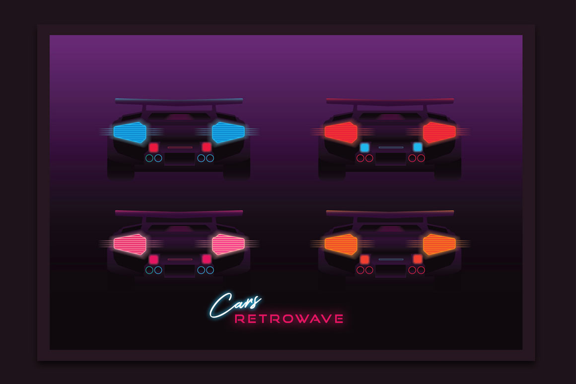 Synthwave cars