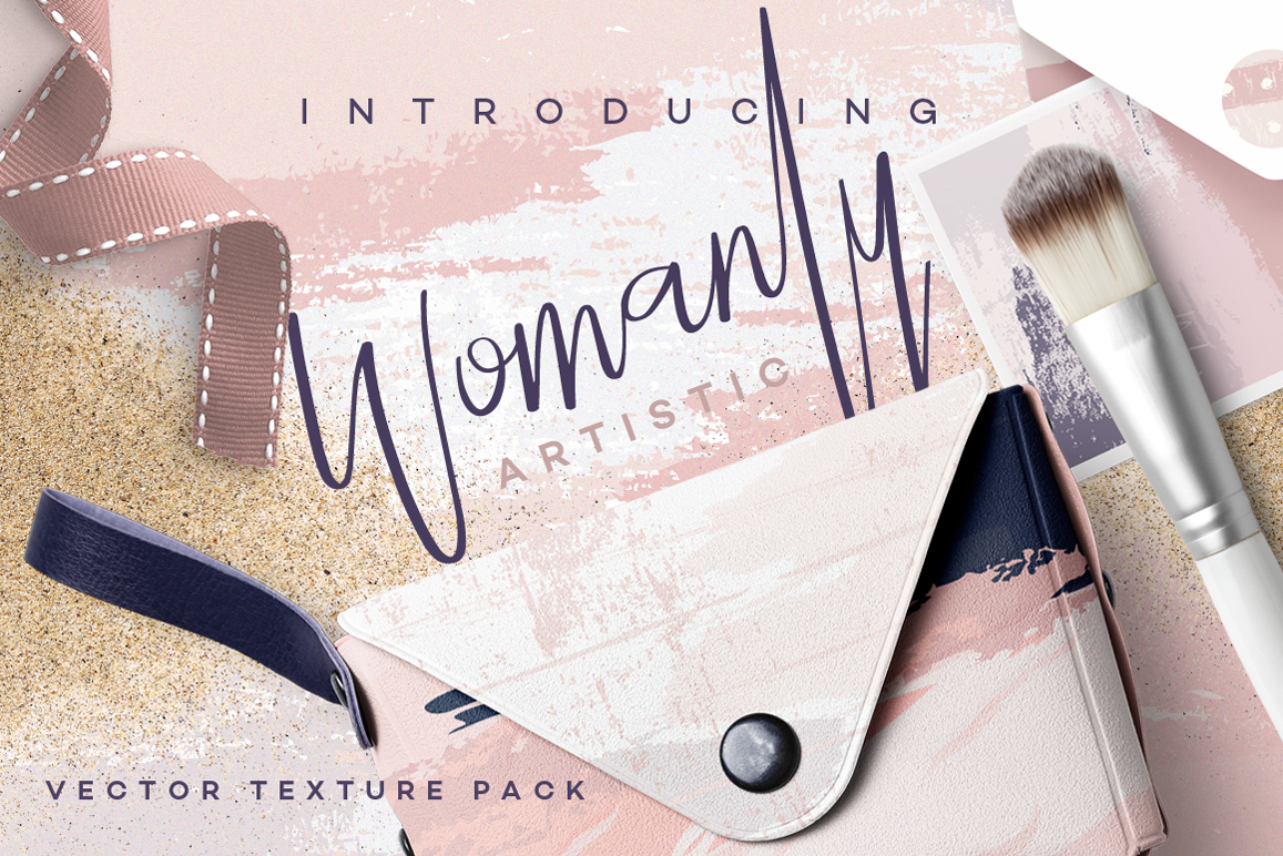 Womanly Artisitc Vector Textures