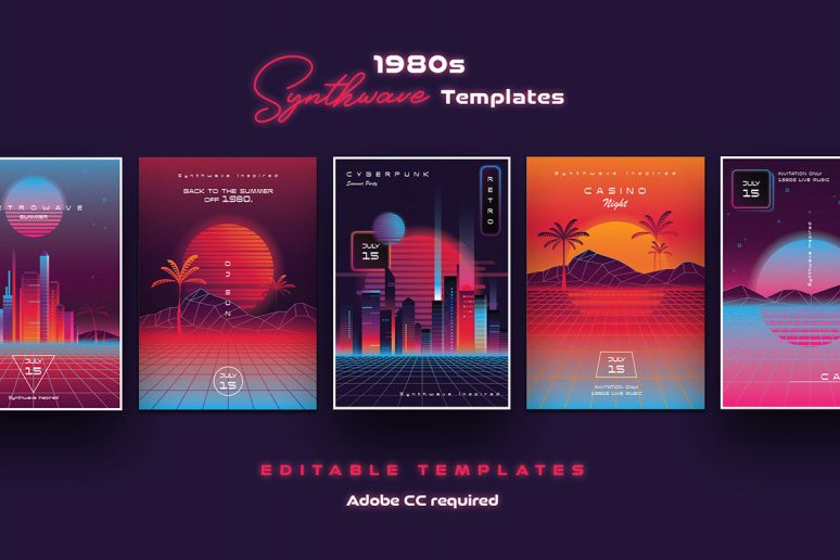1980s-Synthwave-Templates