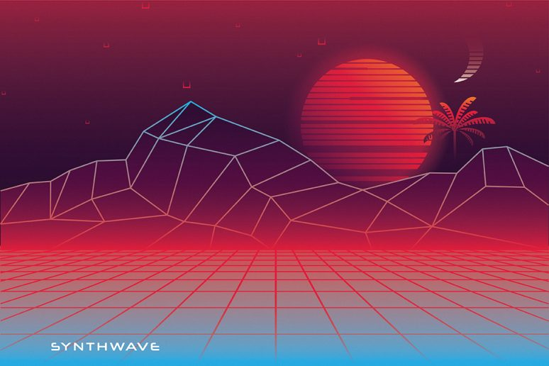 1980s synthwave toolkit freebie