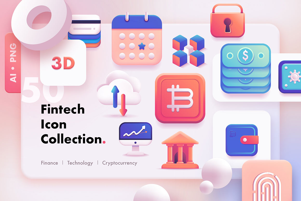 3D-Fintech-Icon-Collection